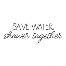 Save water shower together wall quotes vinyl lettering wall decal home decor vinyl stencil bath bathroom washroom restroom walk in shower