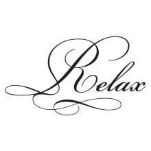 relax elegant wall decal