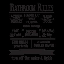 Bathroom Rules Wall Art bathroom | wallquotes