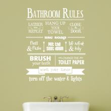 bathroom, bathroom phrases, bathroom rules, family rules, use soap, wash and flush, brush your teeth, wash your hands, use soap, turn off the lights,
