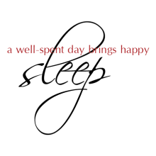 A Well-Spent Day Brings Happy Sleep - two colors - wall quotes decal