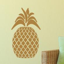 pineapple, gold, tropical, wall quotes, wall art, wall decal,