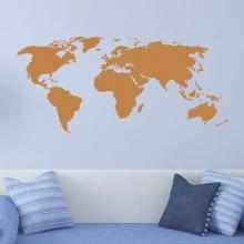 world map wall quotes vinyl wall art decal travel wanderlust