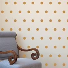 polkadots gold nursery wall art decal