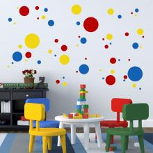 Primary Colors Dots & Spots Vinyl Wall Art Decal by WallQuotes.com