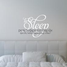 To Sleep Perchance To Dream and Oh What Dreams May Come, bedroom deal, nursery decal