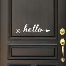 Hello Arrow Wall Quotes™ Decal, entry way welcome greetings