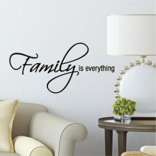 Family is everything wall quotes vinyl lettering wall decal home decor