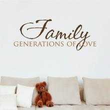 Family generations of love wall quotes vinyl wall decal sale discount vinyl lettering home decor