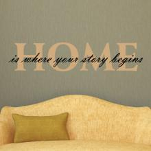 HOME Is Where Your Story Begins wall quotes vinyl lettering wall decal home decor