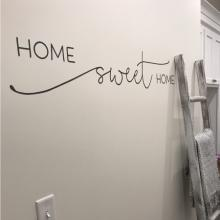 Home sweet home wall quotes vinyl lettering wall decal home decor vinyl stencil house entry entryway welcome hello