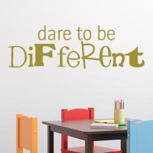 Dare to be different wall quotes vinyl lettering wall decal home decor