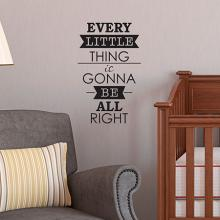 every little thing is going to be alright, bob marley, wall quote