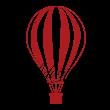 hot air ballon adventure wall decal
