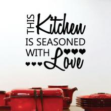 this kitchen is seasoned with love hearts chef cook cooking dining room salt pepper