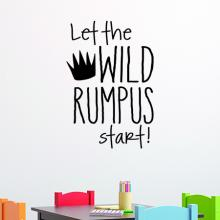 Let the Wild Rumpus Start Wall Quotes Decal, playroom, play, classroom, nursery
