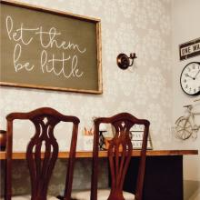 let them be little wall quotes vinyl lettering wall decal home decor vinyl stencil kids children grow up nursery playroom