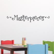 masterpieces with end swirls, masterpiece, kids room, playroom, kids art, art,