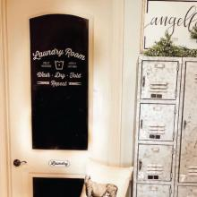Laundry room help needed apply within wash dry fold repeat {clothespins} wall quotes vinyl lettering wall decal home decor vinyl stencil launder washer dryer funny laundry room