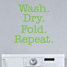 wash dry fold repeat laundry room wall quotes vinyl lettering wall decal