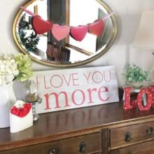 I love you more wall quotes vinyl lettering wall decal home decor vinyl stencil valentines day wedding marriage husband wife