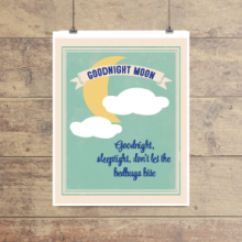 Goodnight moon nursery print