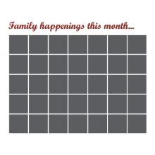 Chalkboard Calendar Family Happenings wall quotes vinyl lettering wall decal home decor plan organize chalk write notes