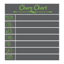 chalkboard daily chores weekly chores wall quotes vinyl lettering wall decal home decor kids chore activities duties responsibility responsbilities