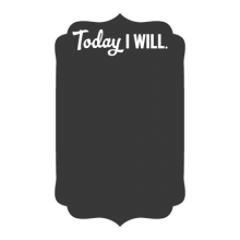 Today I will chalkboard decal