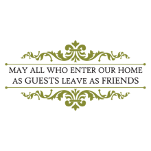 may all who enter and scrolls wall decal