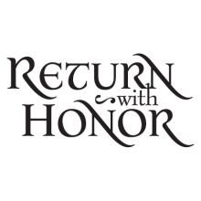 return with honor gilded wall decal