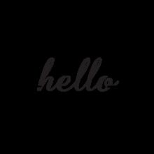 Hello [arrow going through]