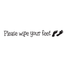 Please wipe your feet (footprints)