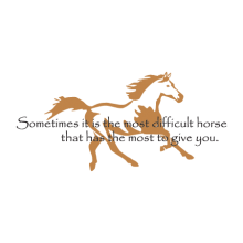 The Most Difficult Horse Wall Decal