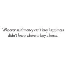 money can't buy happiness wall decal