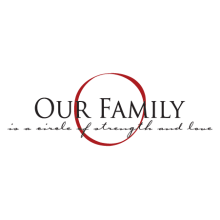 our family elegant wall decal