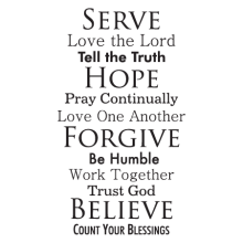faith family rules wall decal