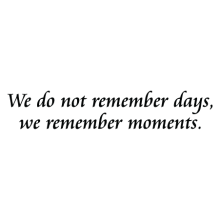 we remember moments simple wall decal