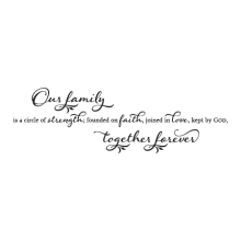 Our Family Together Forever Wall Quotes™ Decal perfect for any home