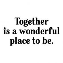 Together is a wonderful place to be wall quotes vinyl wall decal family photo gallery love happy