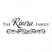 Custom Family Name wall quotes vinyl lettering wall decal personal personalized home decor entryway photowall