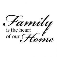 Family is the heart of our home wall quotes vinyl lettering wall decal