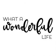 What a wonderful life wall quotes vinyl lettering wall decal home decor home family love