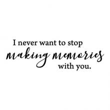 I never want to stop making memories with you wall quotes vinyl lettering wall decal home decor family home love gallery wall quote memory