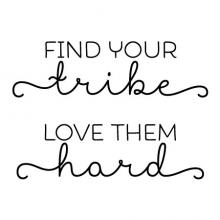 Find your tribe love them hard wall quotes vinyl lettering wall decal home decor vinyl stencil family children close friends coworkers