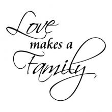 Love makes a family wall quotes vinyl letters wall decal home decor vinyl stencil adoption family isn't just blood family is who you love