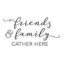 friends & family gather here wall quotes vinyl decal home decor vinyl lettering stencil home entryway
