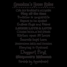 grandma's house rules wall decal