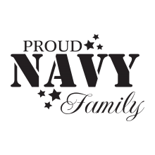Proud Navy Family(Stencil)