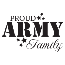 Proud Army Family(stencil)